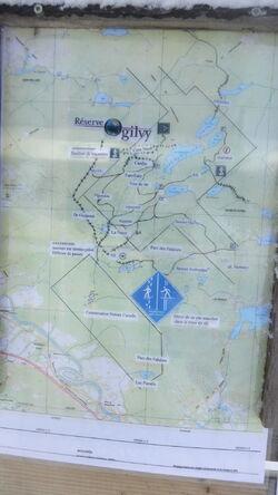 Carte de la Réserve Ogilvy, Saint-Hippolyte